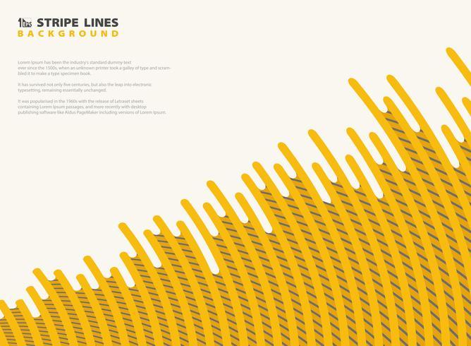Il giallo della maglia astratta della maglia con la banda nera allinea il fondo di progettazione moderna del modello. È possibile utilizzare per annuncio, poster, stampa, modello, opuscolo, volantino, opere d'arte.