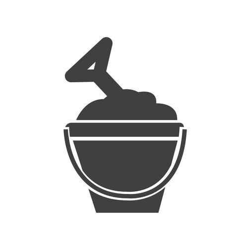 ícone de balde de areia