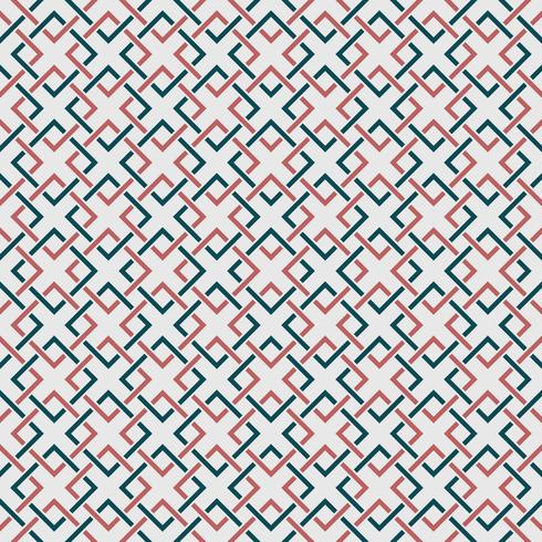 Abstract geometric pattern of square simple blue and orange color background. You can use for wrapping paper, cover, ad, artwork, texture design, modern print.  vector