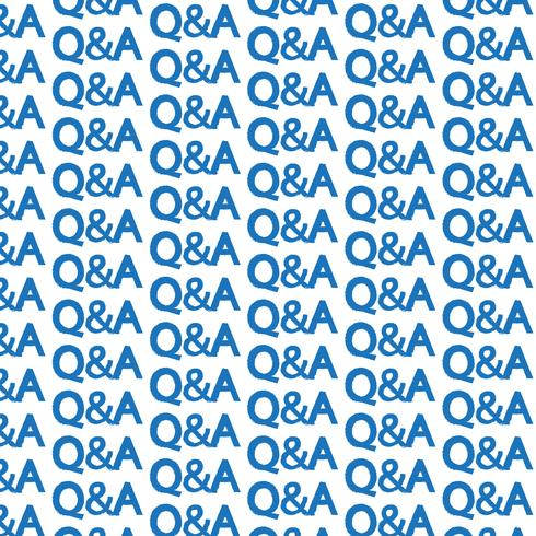 Pattern background question answer icon