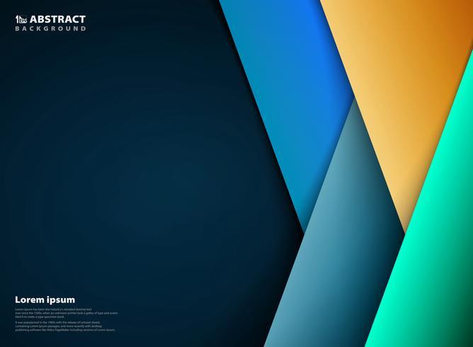 Abstrakt färgstark mall broschyrdesign i pappersskuren trendig stil bakgrund. llustrationsvektor eps10 vektor