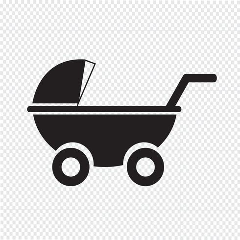 Kinderwagens pictogram