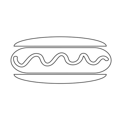 Wurst-Hot-Dog-Symbol
