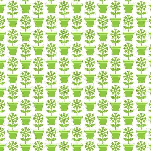 Pattern background Flower Pot Icon