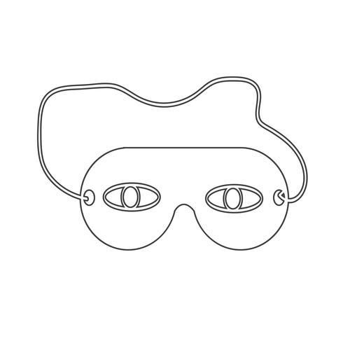 icona della maschera per gli occhi del sonno