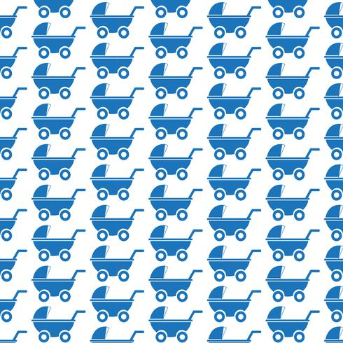 Pattern background Baby carriages icon
