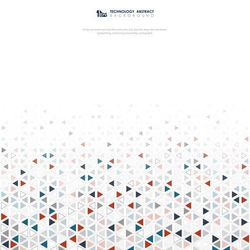 Fondo abstracto de la tecnología del diseño del modelo de los colores de los triángulos del maleficio. ilustración vectorial eps10