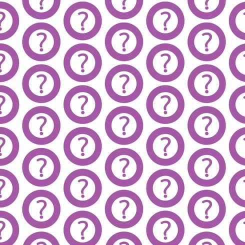 Pattern background Question mark sign icon