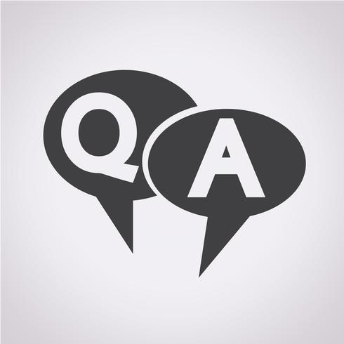 QA-Symbol, Frage Antwortsymbol vektor