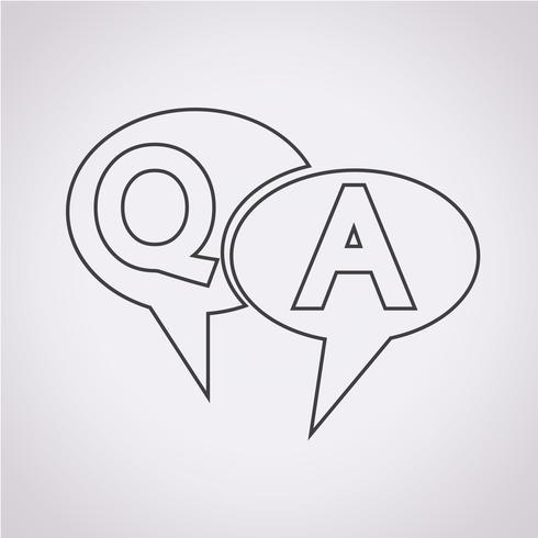 Simbolo QA, icona risposta domanda