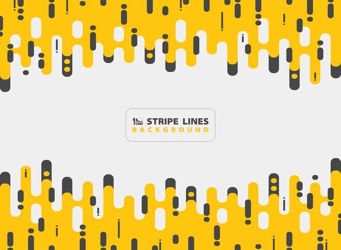 Línea amarilla abstracta raya negra fondo de la combinación del diseño moderno del modelo. Se puede utilizar para anuncios, carteles, impresos, plantillas, folletos, volantes, ilustraciones. vector