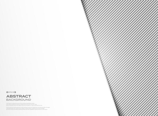 Disegno astratto del modello della linea della banda nera con il fondo bianco della copertura. illustrazione vettoriale eps10