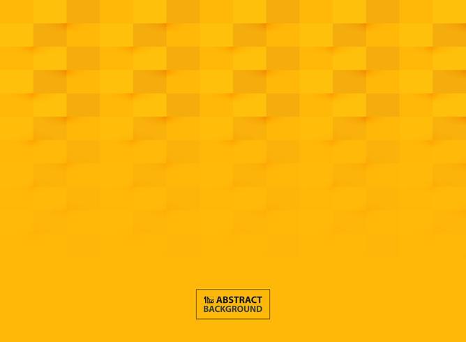 Progettazione del modello del taglio della carta astratta nel fondo giallo vivo di colore. illustrazione vettoriale eps10
