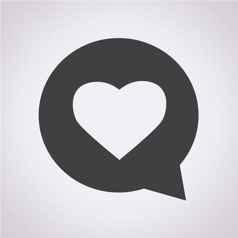 Heart speech bubble icon