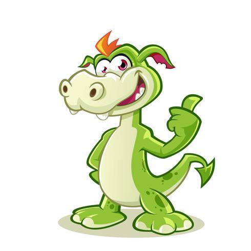 Adorable dragon showing thumb up