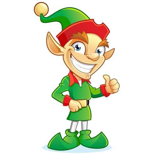 Smiling elf cartoon character