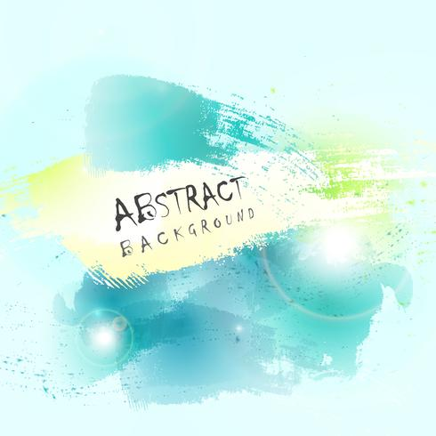 Abstract green blue water color splash background. illustration vector eps10