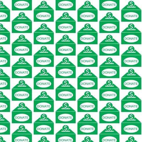 Pattern background Ícone de caixa de doação