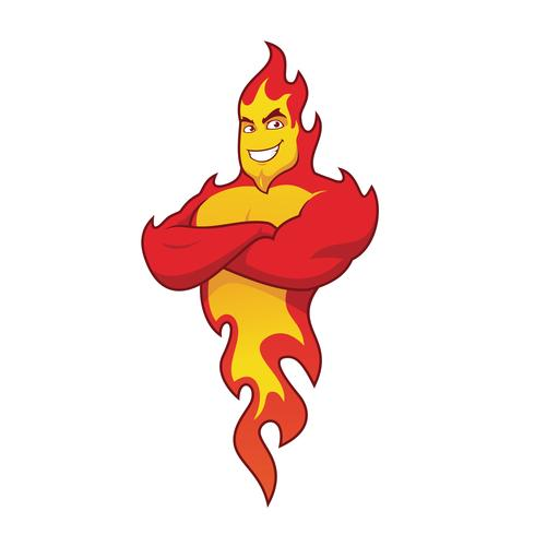 Fire flame character