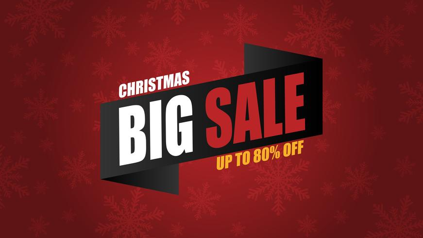 Christmas sale banner background with decoration in paper cut style.