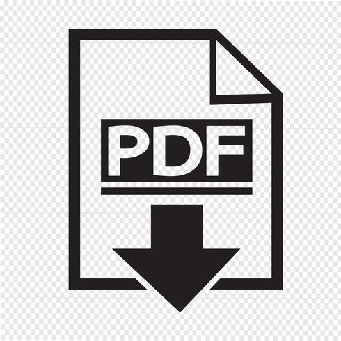 Sinal de símbolo de ícone PDF