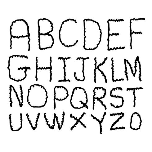Hand Zeichnen Schriftart