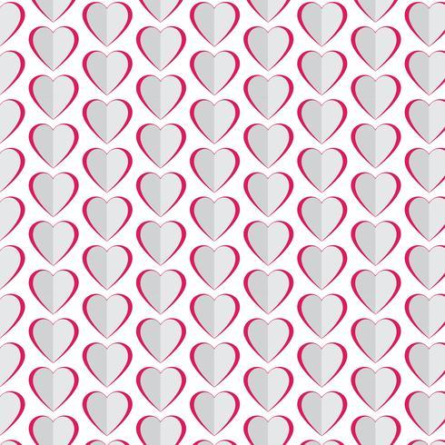 Pattern background Ícone de coração de amor