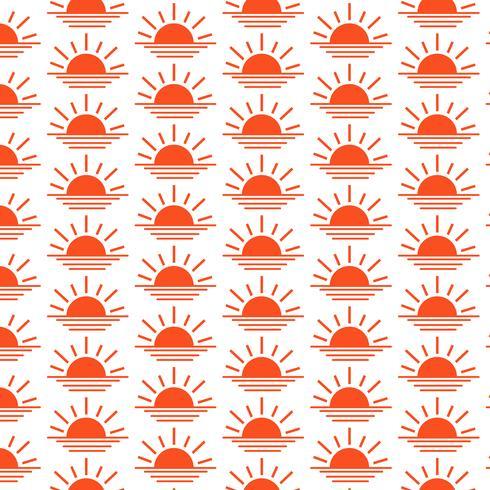 Ícone de linha do nascer do sol fundo padrão do sol