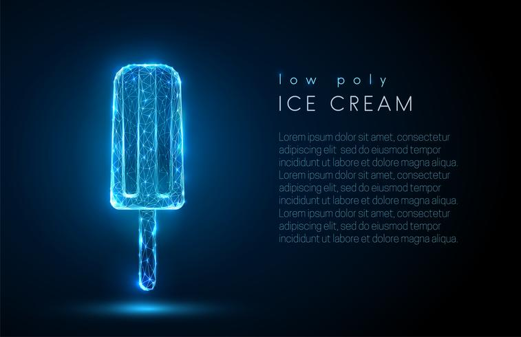Abstract ice cream. Low poly style design