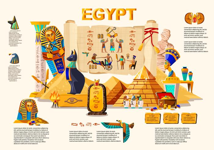Ancient Egypt infographic travel concept