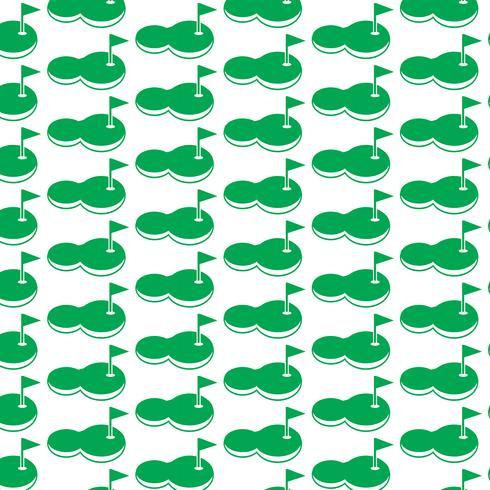 Pattern background golf court icon