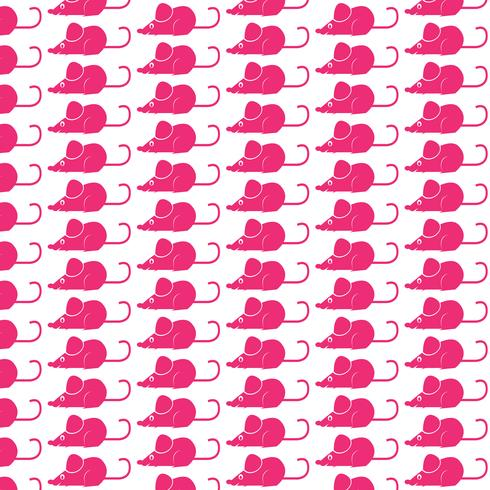 Pattern background mouse rat icon