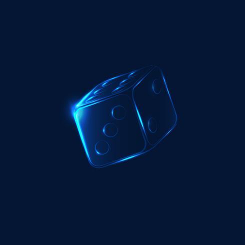 Neon falling dice vector