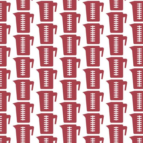 Pattern background Measuring cup icon