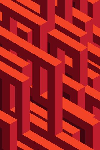 Fundo 3D isométrico sem emenda
