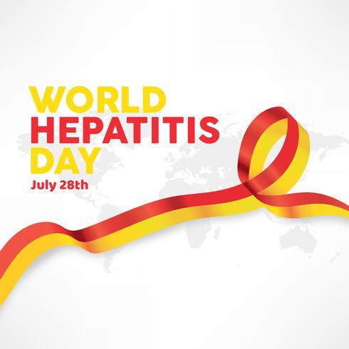 Día mundial de la hepatitis diseño vectorial