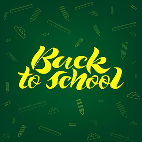 Zurück zu Schule Schriftzug Banner