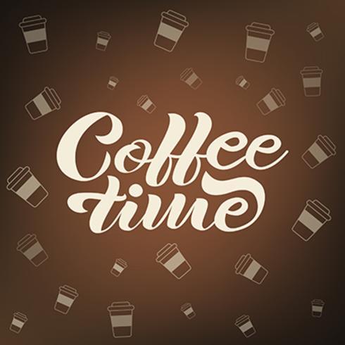 Vector bandeira de rotulação de café mão desenhada