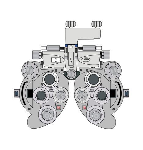 appareil de mesure d'optométrie bifocale