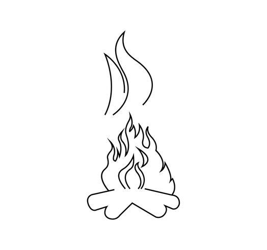 Feu brûlant avec de la fumée