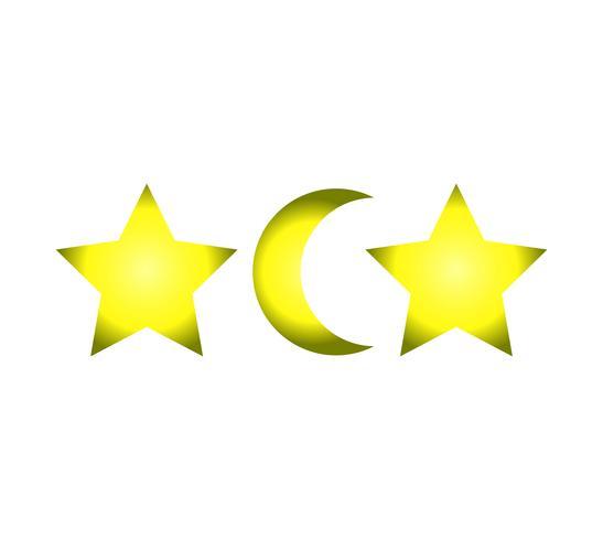 Duas estrelas e uma lua