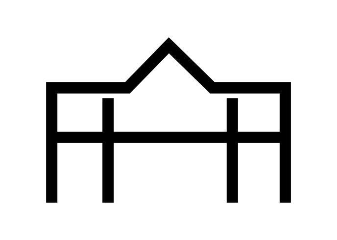 Villa black sign