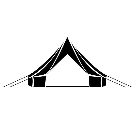 Rainbow tent graphic