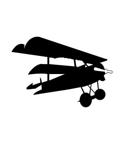 biplane black silhouette
