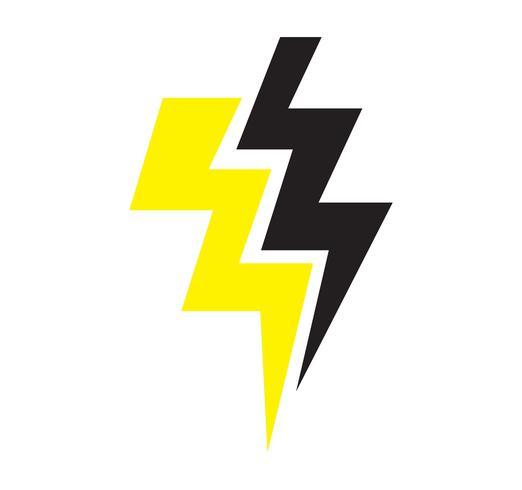 Symbole tonnerre jaune et noir