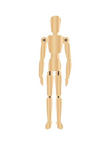Wooden doll vector