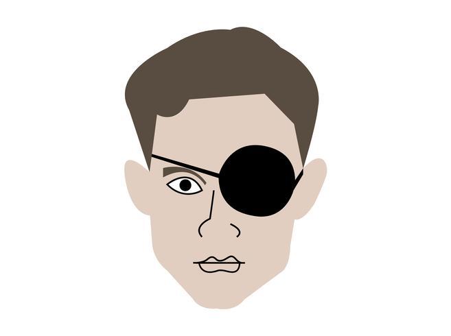 Homme avec eyepatch