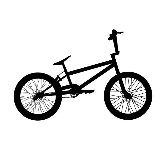 Silhouette de vélo BMX