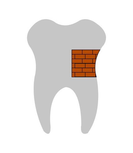 Dente fixo com tijolos