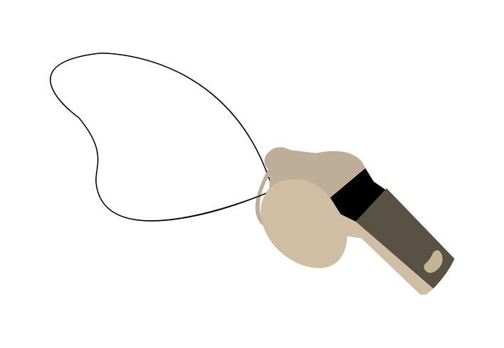 Coach whistle vector